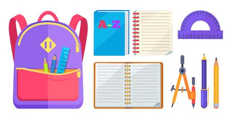 Illustration pour Rucksack Fashionable Model and School Accessory - image libre de droit