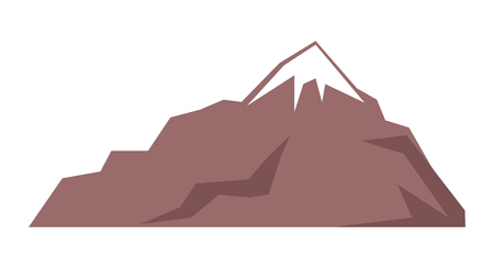 Illustration pour Rocky Mountain Isolated Illustration on White - image libre de droit