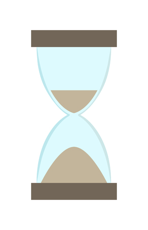 Ilustración de Hourglass with more sand in bottom part than in top illustration. - Imagen libre de derechos