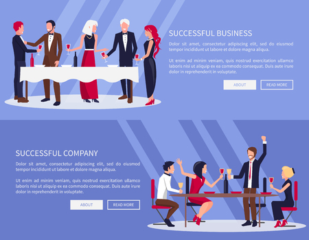 Illustration for Successful Business, Company Vector Illustration - Royalty Free Image