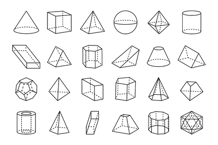 Photo pour Collection of Geometric Shapes Illustration. - image libre de droit