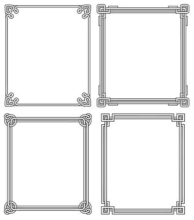 Ilustración de Frames Vintage frame design. - Imagen libre de derechos