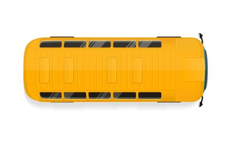 Illustration pour Bus Top View Flat illustration. - image libre de droit