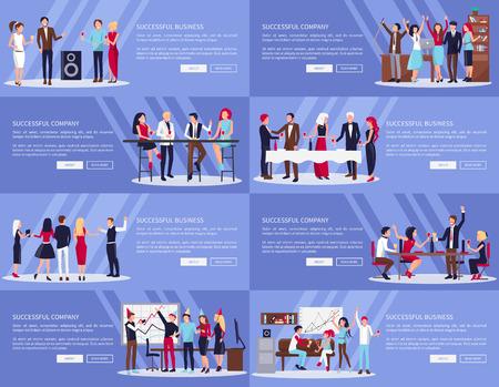 Illustration pour Successful Company, Business Vector Illustration - image libre de droit