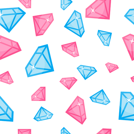 Illustrazione per Diamonds of Different Size Seamless Pattern Vector - Immagini Royalty Free