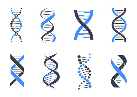 Illustration pour DNA helix pattern set - image libre de droit