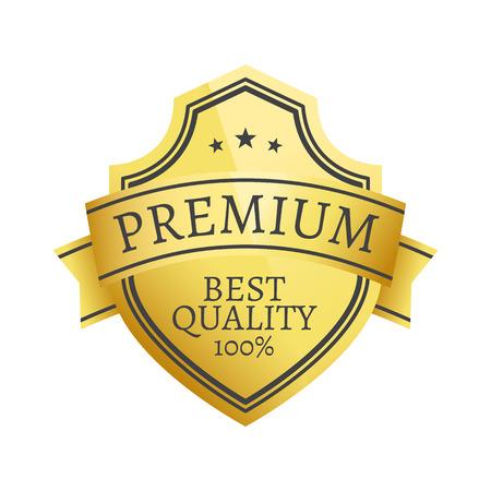 Ilustración de 100 Premium Quality Choice Golden Label Isolated - Imagen libre de derechos