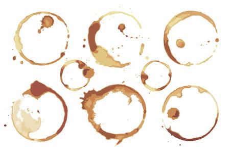 Ilustración de Coffee and Tea Stains Left by Cup Bottoms Set - Imagen libre de derechos