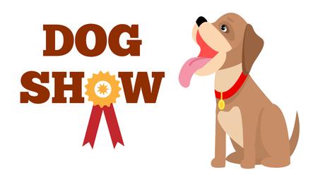 Illustrazione per Dog Show Poster, Colorful Vector Illustration - Immagini Royalty Free