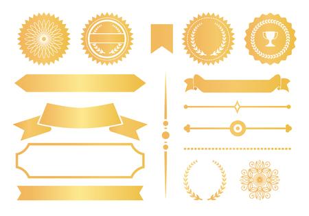 Illustration for Certificate Design Elements Labels Awards Ribbons - Royalty Free Image