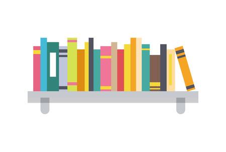 Illustration pour Book Shelf Template, Color Vector Illustration - image libre de droit
