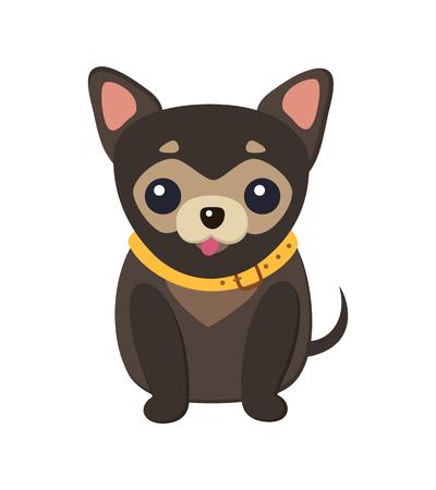 Illustrazione per Chihuahua Dog Picture Poster Vector Illustration - Immagini Royalty Free