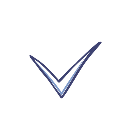 Illustration pour Check mark and tick used in voting icon vector. Agreement point used in votes to show ok sign. Approval in checkbox, agree good positive decision - image libre de droit