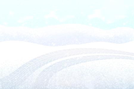 Ilustración de Imprint from tyres of car, transport tire track vector. Track left by transportation vehicle, mark on ground, snowy weather footprint of automobile - Imagen libre de derechos