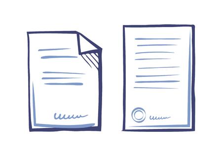 Illustration for Set Commercial Documentation Templates, Web App - Royalty Free Image