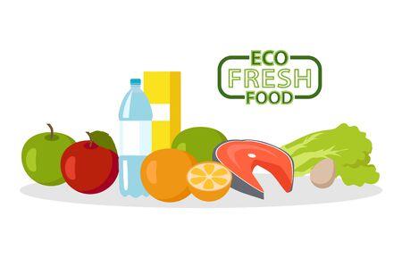 Illustration pour Eco fresh food - image libre de droit