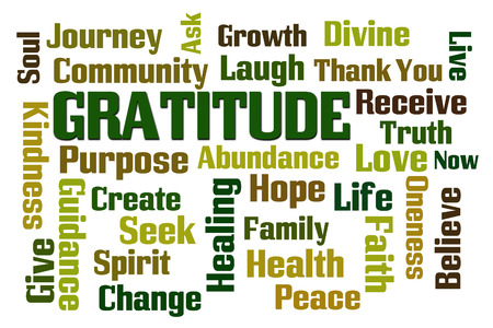 Photo for Gratitude word cloud on white background - Royalty Free Image