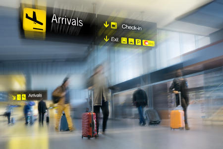 Photo for Airline Passengers at the Airport - Royalty Free Image