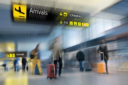 Foto de Airline Passengers at the Airport - Imagen libre de derechos