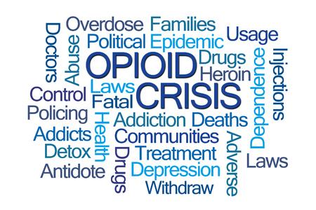Photo pour Opioid Crisis Word Cloud on White Background - image libre de droit