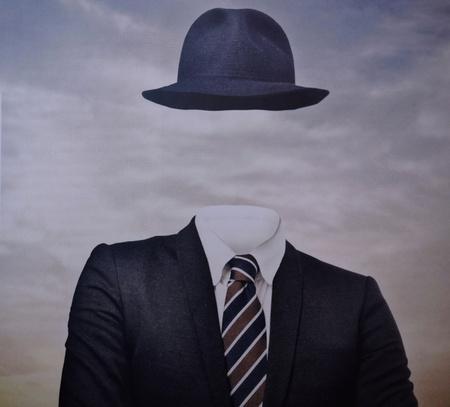 Photo pour portrait of a faceless man - image libre de droit