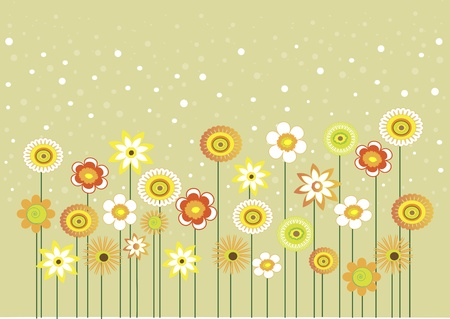 Photo for Here are some flowers with bubbles, can be used as greeting card  - Royalty Free Image