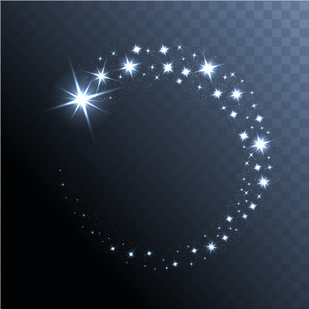 Illustration pour Vector glowing stars, lights and sparkles. Transparent effects - image libre de droit