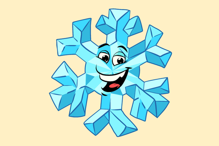 Photo for snowflake cute smiley face character - Royalty Free Image