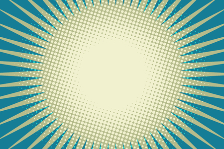Illustration pour blue sun pop art background - image libre de droit