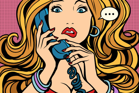 Illustrazione per Woman, bad talking on the phone - Immagini Royalty Free