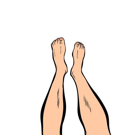 Ilustración de human feet isolated on white background - Imagen libre de derechos