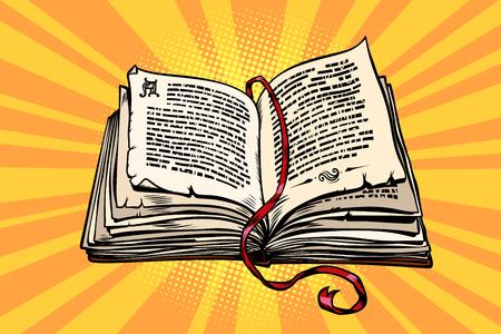 Illustration pour ancient book, religion, fairy tale and literature - image libre de droit