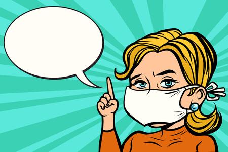 Foto de Woman in medical mask - Imagen libre de derechos