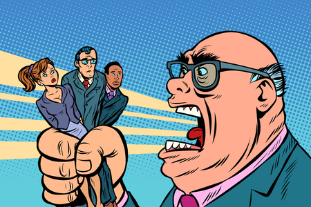 Illustration pour Boss yells at subordinates - image libre de droit
