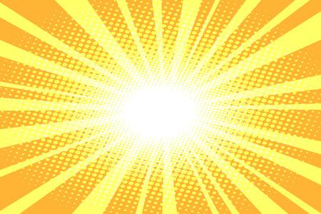 Illustration pour pop art yellow background. Comic cartoon retro vector illustration hand drawing - image libre de droit