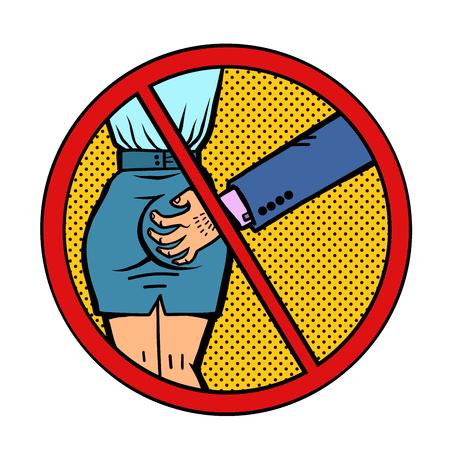 Illustrazione per stop sexual harassment - Immagini Royalty Free