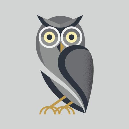 Ilustración de owl vector - Imagen libre de derechos