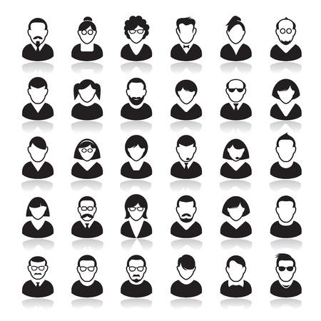 Ilustración de Set of Human Icon. Corporation people. Avatars. - Imagen libre de derechos