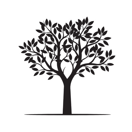 Photo for Beautiful black tree. Vector Illustration - Royalty Free Image