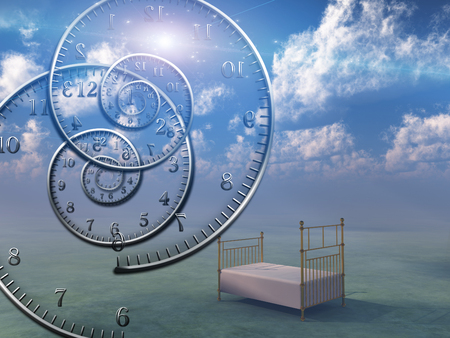 Photo pour Empty bed in the sky. Spirals of time. - image libre de droit
