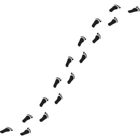 Ilustración de Foot print, great design for any purposes. - Imagen libre de derechos