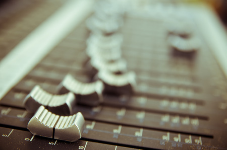 Photo for sound music mixer control panel - Royalty Free Image