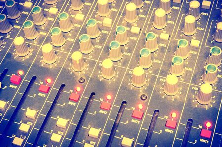 Photo for music mixer in a sound recording studio - Royalty Free Image