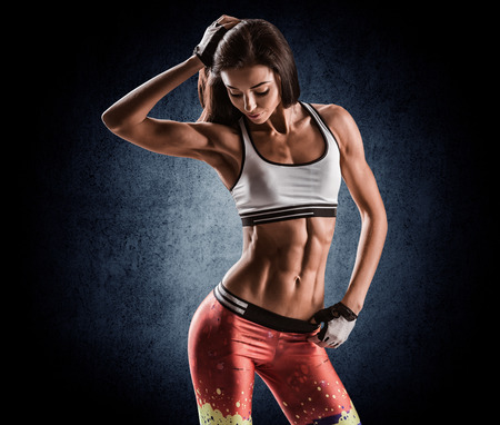 Photo for beautiful young athletic girl after workout - Royalty Free Image