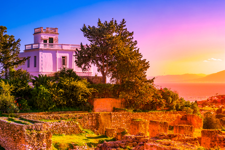 Photo for View from hill Byrsa with ancient remains of Carthage and landscape. Tunis, Tunisia. - Royalty Free Image
