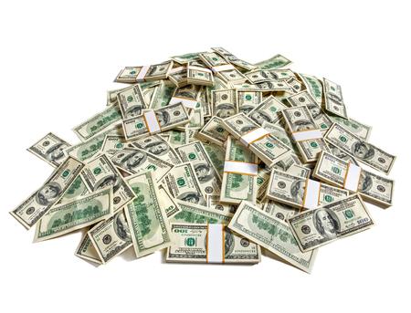 Foto de Huge pile of money - studio photography of American moneys of hundred dollar - Imagen libre de derechos