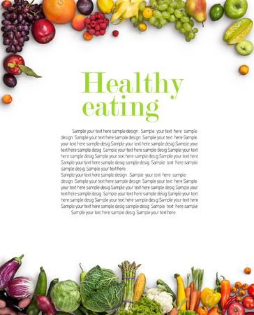 Photo pour Healthy eating background - image libre de droit