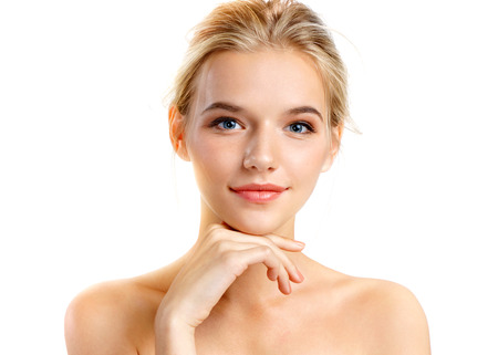Photo pour Gorgeous young girl with perfect skin. Youth and skin care concept - image libre de droit