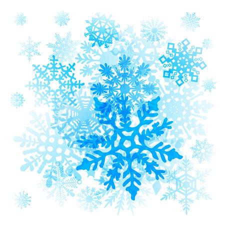 Illustration pour Snowflakes Christmas icons - image libre de droit