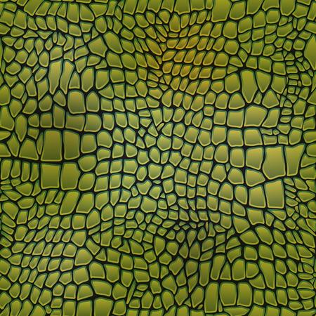 Vector illustration of alligator skin seamless art crocodile